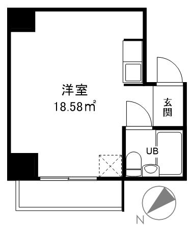 港区赤坂6丁目 区分マンション 3階-間取り