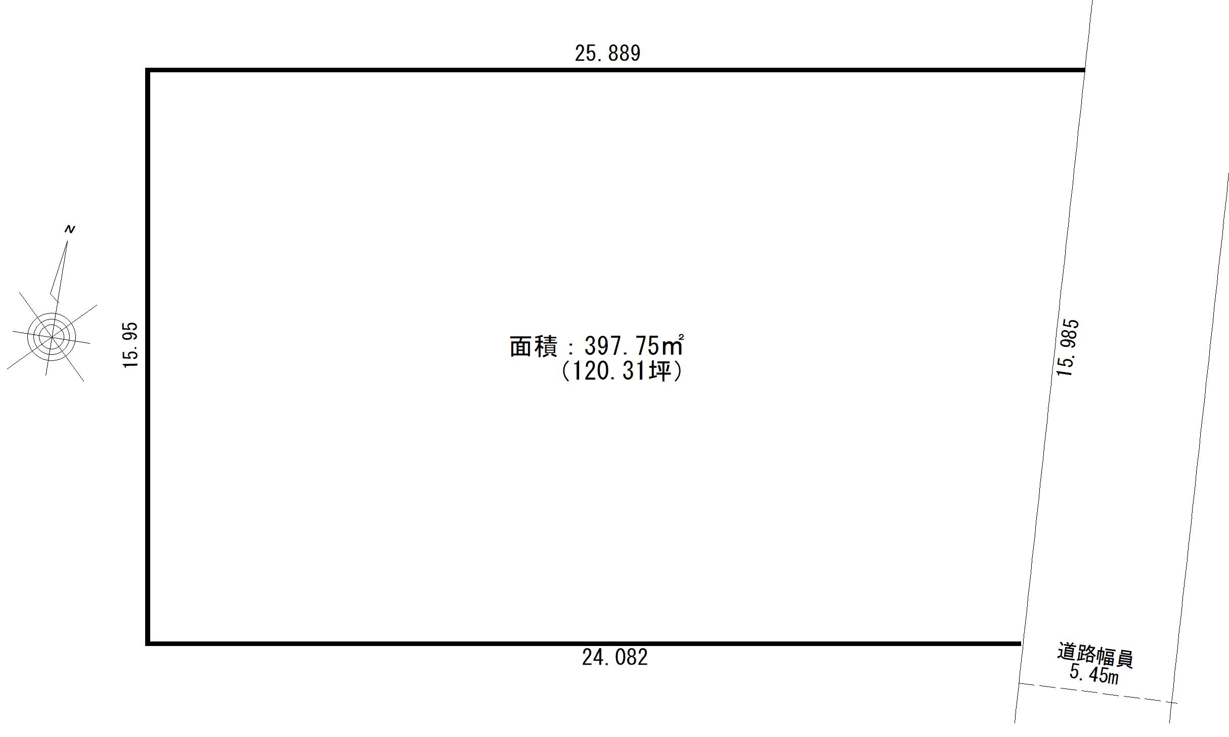 【☆売主物件☆】目黒区八雲5丁目 売地-間取り